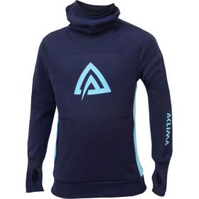 Aclima WarmWool Hood Sweater Juniors Peacoat/River Blue